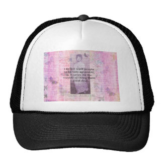 Jane Austen humorous snarky quote Trucker Hat