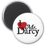 Jane Austen I LOVE Mr. Darcy 2 Inch Round Magnet