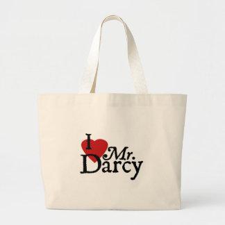 Jane Austen I LOVE Mr. Darcy Jumbo Tote Bag