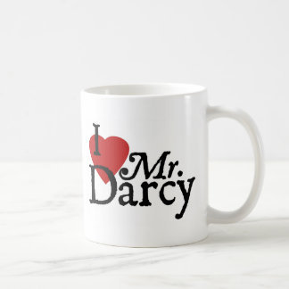 Jane Austen I LOVE Mr. Darcy Classic White Coffee Mug