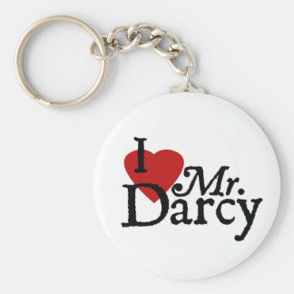 Jane Austen I LOVE Mr. Darcy Keychain