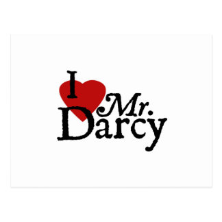 Jane Austen I LOVE Mr. Darcy Postcard