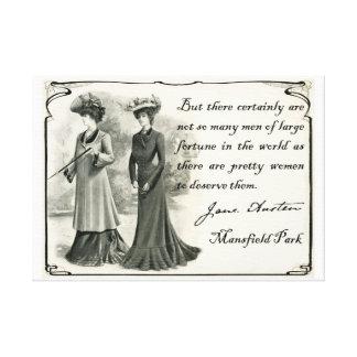 Jane Austen Impresión bonita de la lona de las Impresiones En Lona