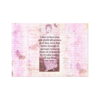 Jane Austen Inspirational quote empowerment women Canvas Print