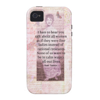 Jane Austen Inspirational quote empowerment women iPhone 4 Covers