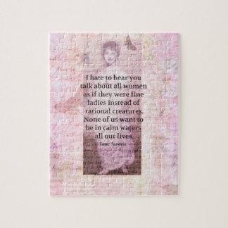Jane Austen Inspirational quote empowerment women Jigsaw Puzzle