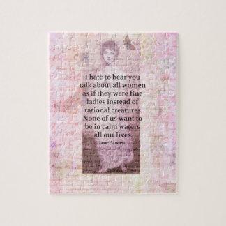 Jane Austen Inspirational quote empowerment women Jigsaw Puzzle