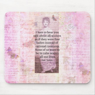 Jane Austen Inspirational quote empowerment women Mouse Pad