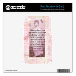 Jane Austen Inspirational quote empowerment women Decals For iPod Touch 4G