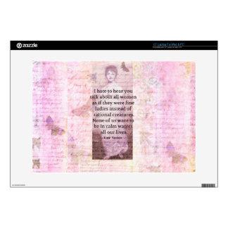 "Jane Austen Inspirational quote empowerment women Skin For 15"" Laptop"