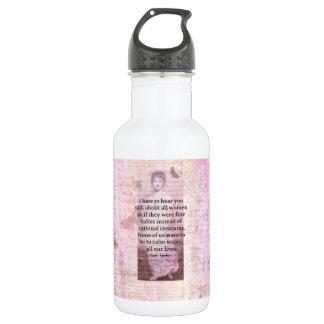 Jane Austen Inspirational quote empowerment women Water Bottle