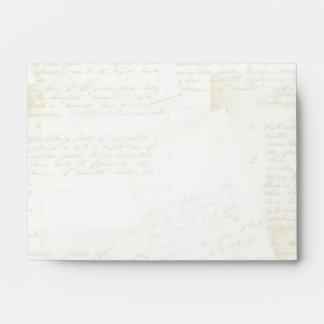 Jane Austen Inspired Antique Script Evelopes #2 Envelope