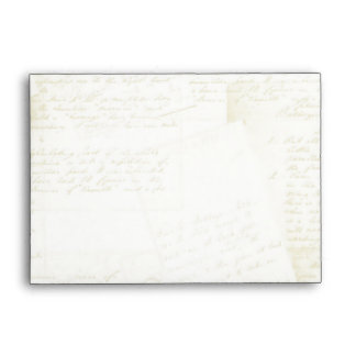 Jane Austen Inspired Antique Script Evelopes Envelope