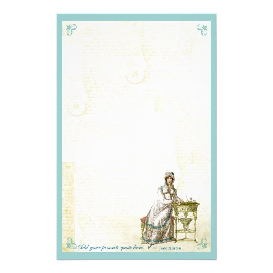 Jane Austen Inspired Custom Stationery