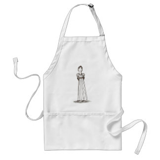 Jane Austen Inspired striped Dress Adult Apron