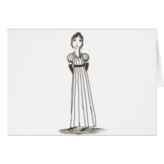 Jane Austen Inspired striped Dress Card