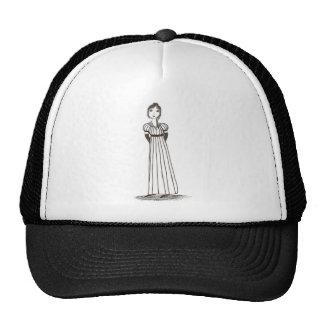 Jane Austen Inspired striped Dress Trucker Hat