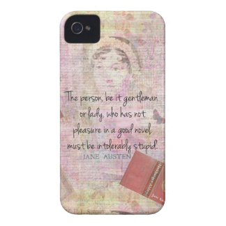 Jane Austen  Intolerably Stupid quote humor Case-Mate iPhone 4 Case