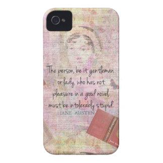 Jane Austen  Intolerably Stupid quote humor iPhone 4 Case-Mate Cases