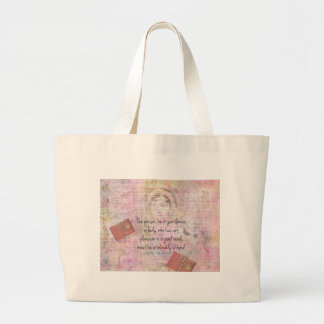 Jane Austen  Intolerably Stupid quote humor Large Tote Bag