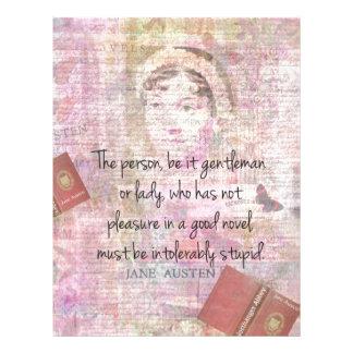 Jane Austen  Intolerably Stupid quote humor Letterhead
