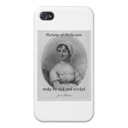 Jane Austen is Sick and Wicked Cases For iPhone 4