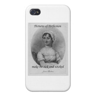Jane Austen is Sick and Wicked Cover For iPhone 4