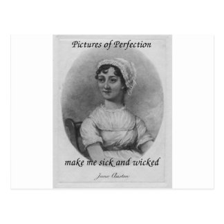 Jane Austen is Sick and Wicked Postcards