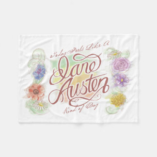 Jane Austen Kind of Day Fleece Blanket