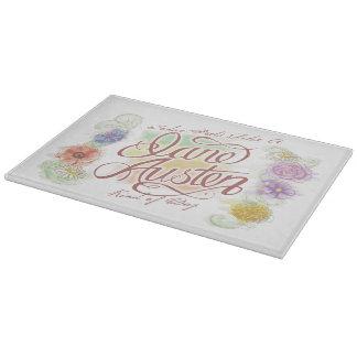 Jane Austen Kind of Day Glass Cutting Board