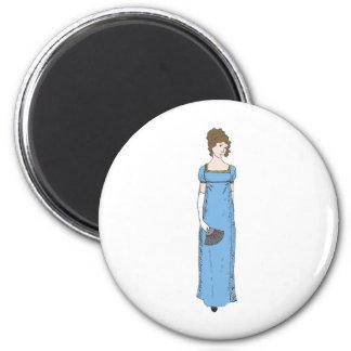 Jane Austen Lady Refrigerator Magnets