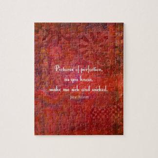 Jane Austen lindo, cita literaria Puzzles
