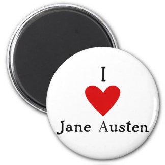 Jane Austen Love 2 Inch Round Magnet