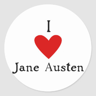 Jane Austen Love Classic Round Sticker