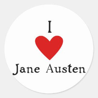 Jane Austen Love Classic Round Sticker