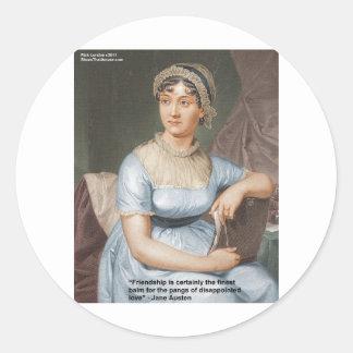 Jane Austen Love Finest Balm Quote Cards & Gifts Classic Round Sticker
