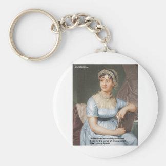 Jane Austen Love Finest Balm Quote Cards & Gifts Keychain