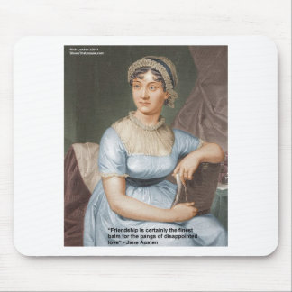Jane Austen Love Finest Balm Quote Cards & Gifts Mouse Pads