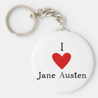 Jane Austen Love Keychain