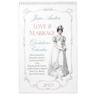 Jane Austen Love Marriage Quotations Calendar 2013