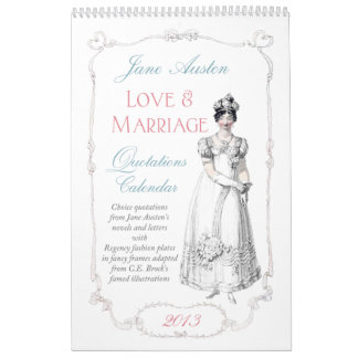 Jane Austen Love Marriage Quotations Calendar 2013