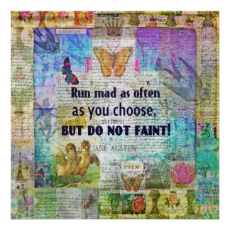 Jane Austen love quote Poster