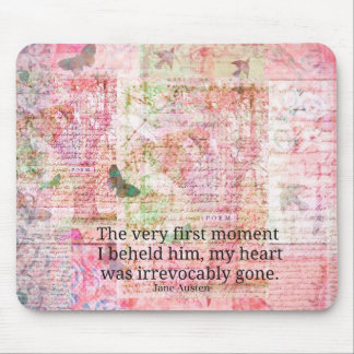 Jane Austen Love Romance quote text ART Mouse Pad
