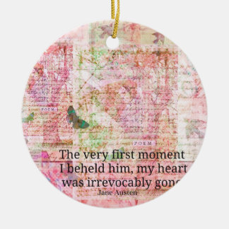 Jane Austen Love Romance quote text ART Christmas Ornament