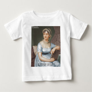 Jane Austen Loved U Less Quote On Gifts & Cards Baby T-Shirt