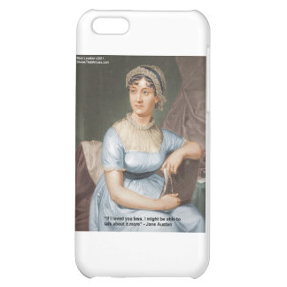 Jane Austen Loved U Less Quote On Gifts & Cards iPhone 5C Cover