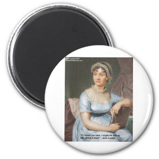 Jane Austen Loved U Less Quote On Gifts & Cards Fridge Magnets