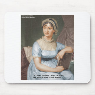 Jane Austen Loved U Less Quote On Gifts & Cards Mouse Pads