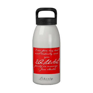 Jane Austen Marriage Equality Water Bottle