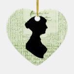 Jane Austen, me llama Letter de señora Jane CrissC Ornamento De Navidad